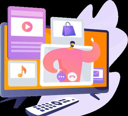 Web TV com velocidade e planos personalizados
